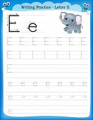 Writing Practice Letter E