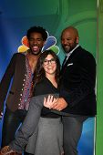 LOS ANGELES - DEC 16:  Brandon Smith, Rebecca Corry, Chris WIlliams at the NBCUniversal TCA Press Tour at the Huntington Langham Hotel on December 16, 2015 in Pasadena, CA
