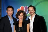 LOS ANGELES - DEC 16:  Jack Robinson, Anna Friel, Peter Facinelli at the NBCUniversal TCA Press Tour at the Huntington Langham Hotel on December 16, 2015 in Pasadena, CA