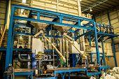 Industrial, Steel, Building, Blue, Large.