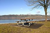 Picnic Bench With A View Oregn Parks.