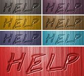 Relief Help Words On Wooden Background