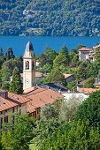 View of Cernobbio town (Como lake, Italy)