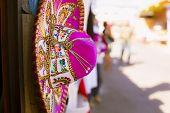 stock photo of sombrero  - Sombrero in the flea markets of Mexico - JPG
