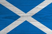 Scotland Flag on wood background