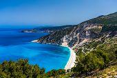 Scenic view of Myrtos beach , Kefalonia
