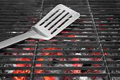 Spatula On The Hot Grill