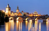 pic of bridge  - Prague bridge  - JPG