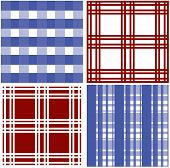 Set of stripes and squared pattern