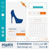 E-commerce web design elements extra set 1