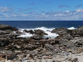 pic of breaker  - The rocks and the breakers of the Southern ocean at the south coast of Kangaroo island in Australia - JPG