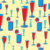 alcohol seamless pattern