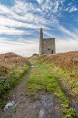 stock photo of dong  - Ding dong tin mine in cornwall england UK - JPG