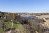 Among Izborsky hills - Gorodischenskoe lake. Izborsk. Pskov region.
