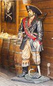 pirate statue in Saint Tropez