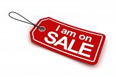 I am on sale tag, 3d render