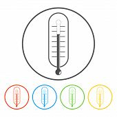 thermometer vector icon illustration.
