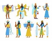 pic of god  - A set of 8 Ancient Babylonion gods and goddesses - JPG