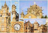Victoria Railway Station. Collage