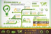 stock photo of environment-friendly  - ecology infographics environment information template and vector icons collection - JPG