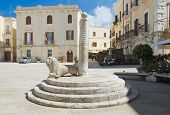 Mercantile Square and the Infamous Column. Bari. Apulia.