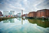 View of Albert Dock in Liverpool, England