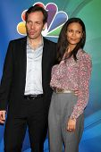 LOS ANGELES - JAN 16:  Peter Sarsgaard, Thandie Newton at the NBC TCA Winter 2015 at a The Langham Huntington Hotel on January 16, 2015 in Pasadena, CA