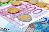 Coins And Euro Banknotes