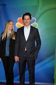 LOS ANGELES - JAN 16:  Hope Davis, Scott Cohen at the NBCUniversal TCA Press Tour at the Huntington Langham Hotel on January 16, 2015 in Pasadena, CA