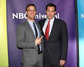 LOS ANGELES - JAN 15:  Sean Kleier, Andy Buckley at the NBCUniversal Cable TCA Winter 2015 at a The Langham Huntington Hotel on January 15, 2015 in Pasadena, CA