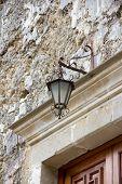 Lamp above the door