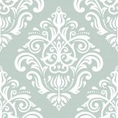 Pattern in the style of Baroque. Abstract Vector Background. Blue and White Colors