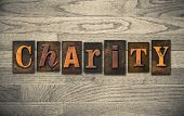 Charity Wooden Letterpress Concept