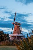 image of windmills  - De Molen windmill at Foxton New Zealand - JPG
