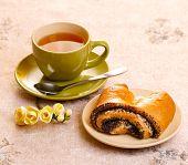 Tea with croissants