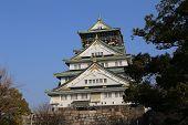 picture of castle  - Osaka Castle is a Japanese castle in Ch - JPG