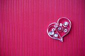 Heart Of  Paper Quilling  For Valentine's Day