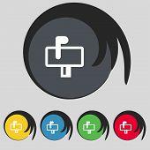 foto of mailbox  - Mailbox icon sign - JPG