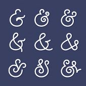 picture of ampersand  - Custom ampersands for invitation or card - JPG