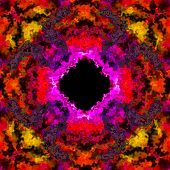 image of fieri  - Colorful fiery black hole 3D illusion made seamless - JPG