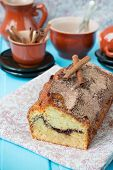 picture of cinnamon  - Cake with cinnamon and cinnamon crunchy crust - JPG