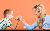 picture of wrestling  - Family children and motherhood concept - JPG