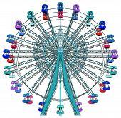 picture of carnival ride  - Colorful Fun Park Fair Carnival Carousel Vector - JPG