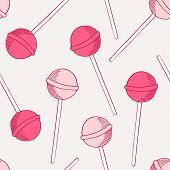 picture of lollipop  - Sketches lollipop seamless pattern - JPG
