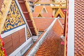 stock photo of gable-roof  - Temples in Thailand - JPG