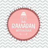 foto of ramazan mubarak card  - Elegant greeting card design for Islamic holy month of prayers - JPG