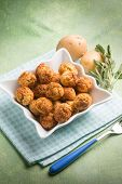 picture of meatball  - potatoes meatballs - JPG