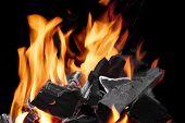 image of charcoal  - Close - JPG