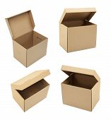 picture of fedex  - Cardboard boxes with different angles on white - JPG