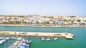pic of lagos  - The harbor and the village Lagos in the Algarve Portugal - JPG